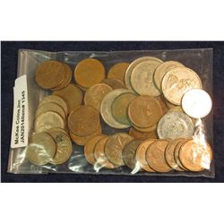 1345. (33) Cents; (2) Nickels; (2) Dimes including one Silver; (3) Quarters, & a Bi-metal $2 Polar B