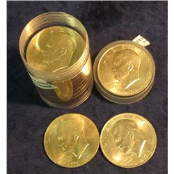 1431. Roll of (20) High Grade mixed date Eisenhower Dollars in a plastic tube.
