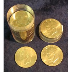 1433. Roll of (20) High Grade mixed date Eisenhower Dollars in a plastic tube.