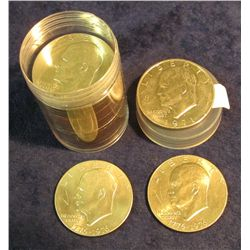 1434. Roll of (20) High Grade mixed date Eisenhower Dollars in a plastic tube.