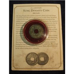 1460. China Coin Minted in the 11th Century. With Certificate of Authenticity.