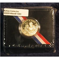 1483. 2008 S Bald Eagle Commemorative Half Dollar in original U.S. Mint issued box. Proof.