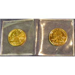 1492. 2002 P & D Mississippi Statehood Quarters 24K Gold-plated.