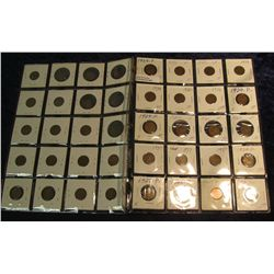 "1496. (2) Plastic Pages of Lincoln Cents 1909-39 including a blank planchet. All in 2"" x 2"" holders."