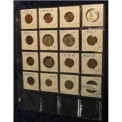 1498. 1970 S Cent BU; (8) Wheat Cents 1917-45; 1936 P & 37 P Buffalo Nickels; 1999 P Delaware State