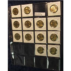 "1499. (13) 2007 P U.S. Presidential Dollars in 2"" x 2"" holders and a plastic page. All BU."