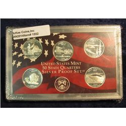 1552. 2005 S Silver Proof Statehood Quarter Set. Original as issued.