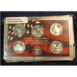 1553. 2004 S Silver Proof Statehood Quarter Set. Original as issued.