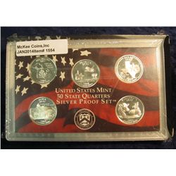 1554. 2004 S Silver Proof Statehood Quarter Set. Original as issued.