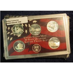 1556. 2005 S Silver Proof Statehood Quarter Set. Original as issued.