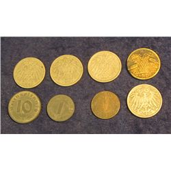 1559. (8) Germanic Coins including Nazi coinage.