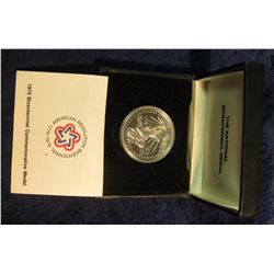 1589. 1975 The National Bicentennial Silver Commemorative Medal in original box of issue.