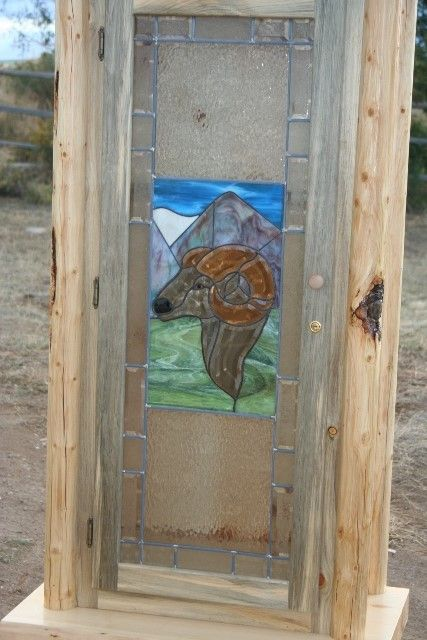 One Of A Kind Log Gun Cabinet Hancrafted With A Wild Sheep Stain