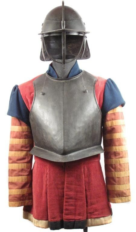 an english civil war cuirassier s armor