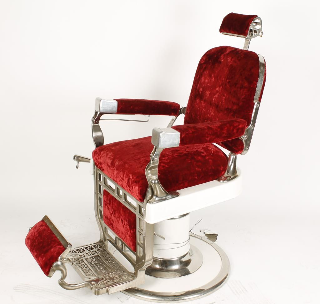 ... Image 2 : Antique Theo A. Kochs Barber Chair ...