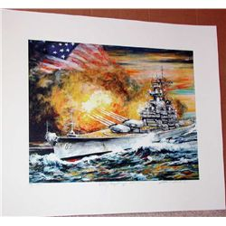 Kamil Kubik, The USS New Jersey In Action, Signed SS