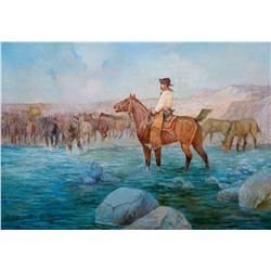 River Crossing by Elwell, R. Farrington