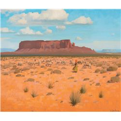 Sheep on the Desert (Navajo) by Delano, Gerard Curtis