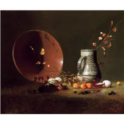 Anasazi Vase with Mayan Plate & Chinese Lanterns by Leffel, David