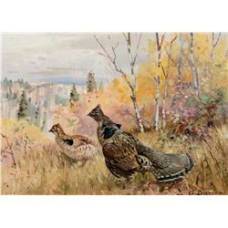 Study of Ruffed Grouse by Browne, George