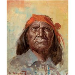 Old Apache Chief by Wieghorst, Olaf