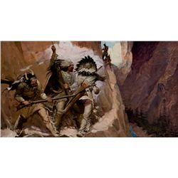 It Was A Duel Between Them and the Two or Three Rear Men of the Enemy by Schoonover, Frank