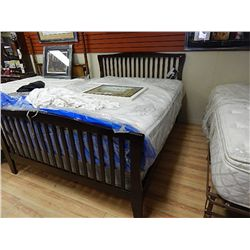 Queen bed frame mission style new for Mission style bed frame plans