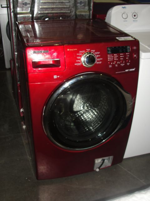 Washing Red Samsung ~ Samsung steamcycles vrt steam red front load washer