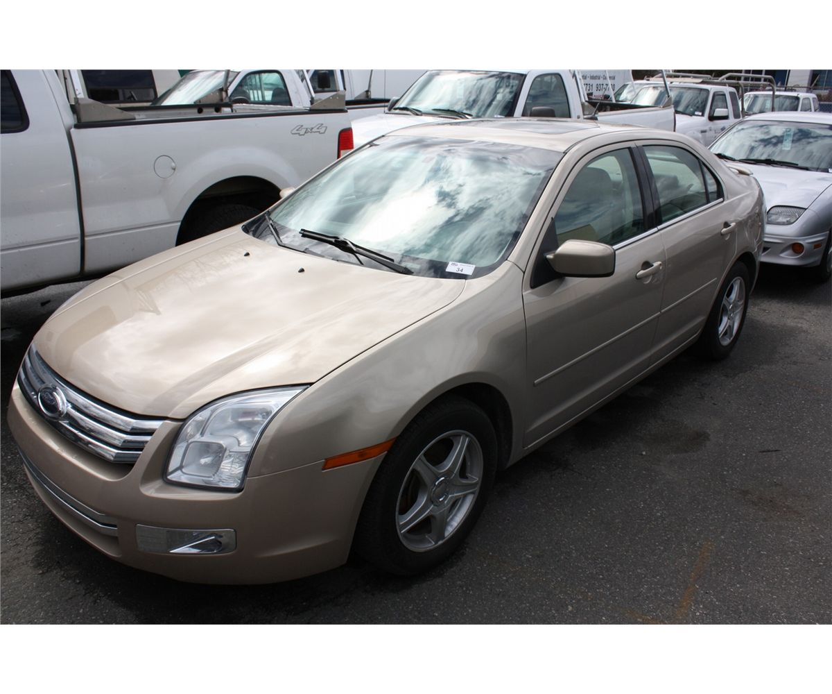 Image 1 2007 ford fusion sel awd 4dsdn brown vin