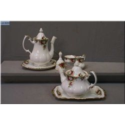 Royal Albert  Celebrations  tea service including coffee pot, tea pot, cream and sugar bowl, sandwic