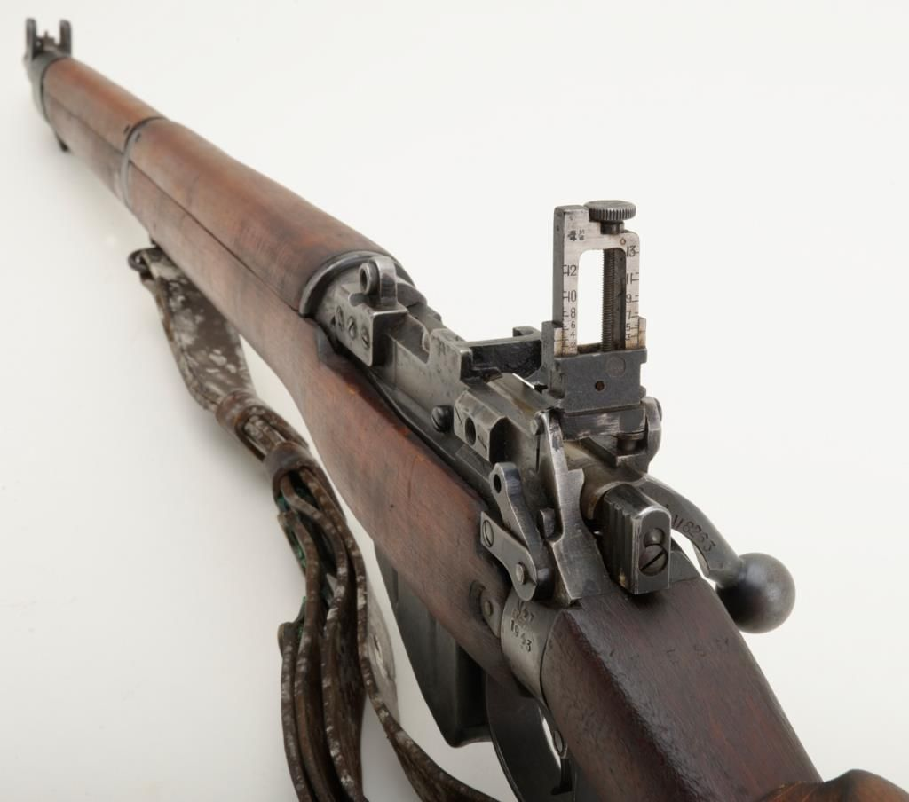 enfield no 4 mk 1 bolt action sniper rifle in military