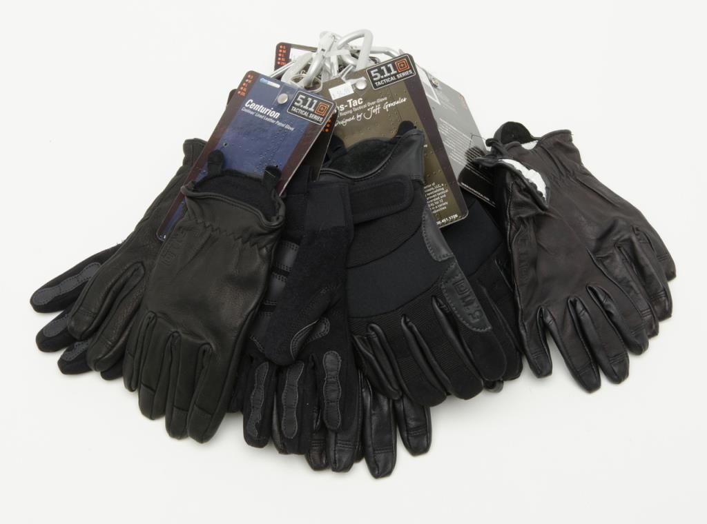 Image 1   Lot of shooting gloves and military style gold bullion colored hat  bands. 7a21ae25dee