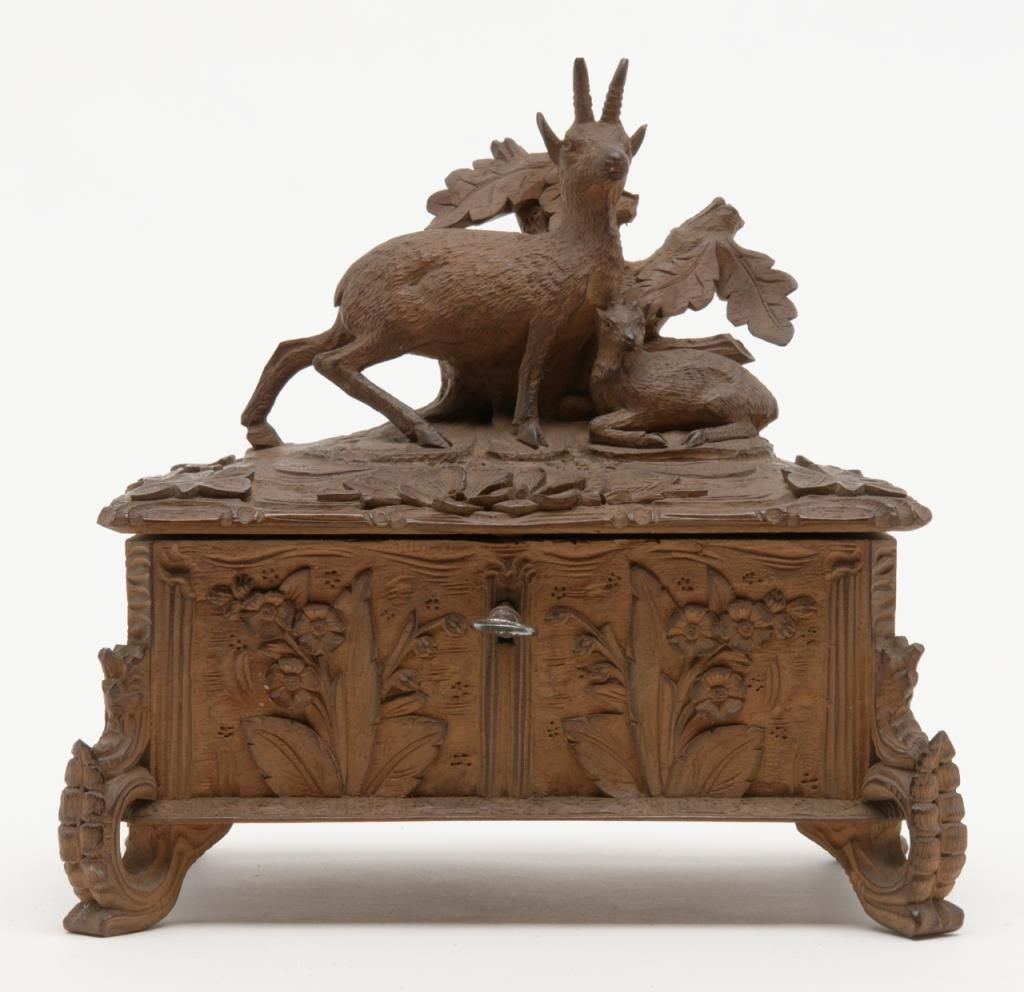Finely carved antique small black forest style