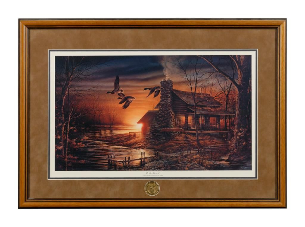 """Print entitled """"Golden Retreat"""" artwork by Terry Redlin with NRA ..."""