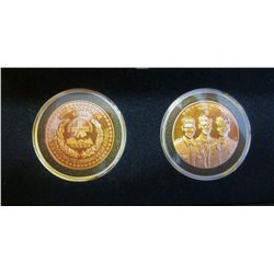 Tokens; SPCUM Sets of 2 Test (Essai) Proof set with mintage of 132. 1972-1987 25 years of dedication