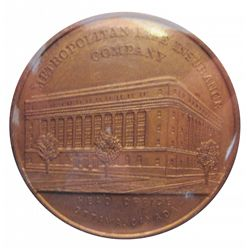 Medal; Metropolitan Life Insurance Company - Head Office Ottawa Canada, reverse depict Canada's armo