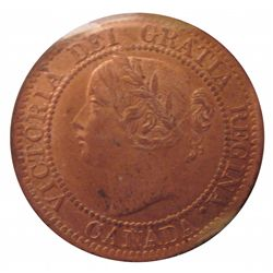 Cent 1859 ICCS MS-63; Narrow 9, Red & Brown.