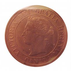 Cent 1881H ICCS MS-62; Trace Red.