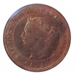 Cent 1882H ICCS MS-64; Obverse 2, Red.