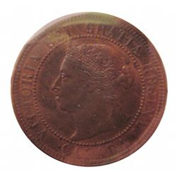 Cent 1884 ICCS MS-62; Obverse 2, Red & Brown.