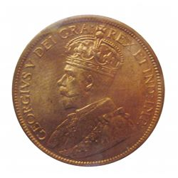 Cent 1917 ICCS MS-65; Red. Only 2 graded higher.
