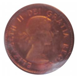 Cent 1959 ICCS PL-67; Red, Heavy Cameo.