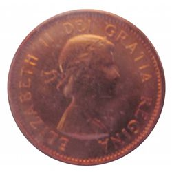 Cent 1962, CCCS MS-64; Red, Missing M.