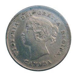 5 cents 1891 Obverse 5 in EF-40, some repunch in the 9 of the date & many letters of the obverse leg