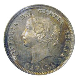 5 cents 1892 ICCS MS-64; Obverse 2, Cameo. Beautiful coin.