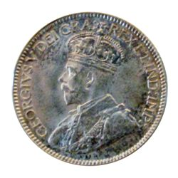 10 cents 1936, CCCS MS-64. Flashy white in a hard holder.