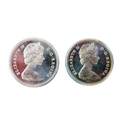 10 cents 1966, CCCS PL-66 Cameo, 1968 PL-65 Cameo. Lot of 2 coins.