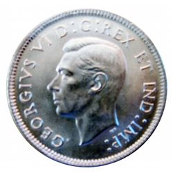 25 cents 1937 ICCS MS-64, blast white coin.