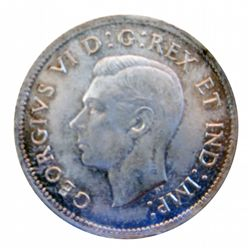 25 cents 1937 ICCS MS-65. Very light rusty toning and great lustre.