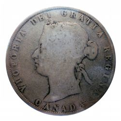 50 cents 1872H About VG Inverted A/V.